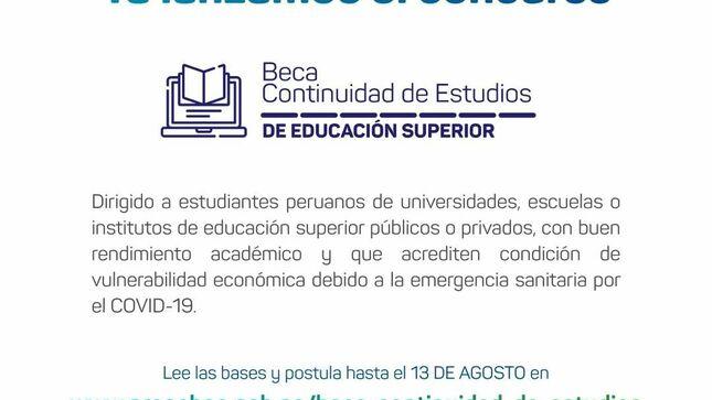 Concurso Beca Continuidad de Estudios 2021