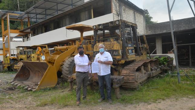 FIRMA DE CONVENIO: Con maquinarias se atenderán puntos críticos en la Provincia de Leoncio Prado.