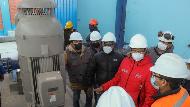 Proyecto integral del agua para Cerro de Pasco en un 98 % de avance físico