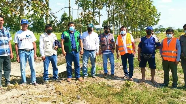 Entregan terrenos para ejecución de proyectos de irrigación en las provincias de Rioja, San Martín y Bellavista