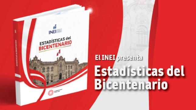 INEI presenta síntesis estadística de 200 años del Perú