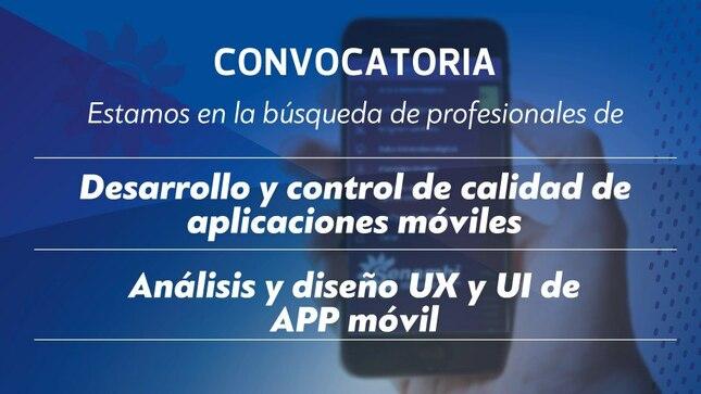 Convocatoria Profesionales en Aplicativos Móviles