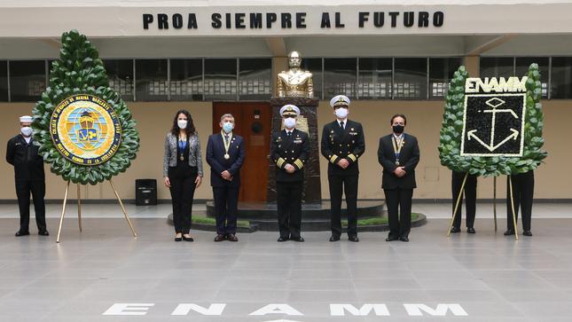 Ceremonia Conmemoración del Natalicio del Gran Almirante del Perú Don Miguel Grau Seminario y el Bicentenario de la Independencia del Perú