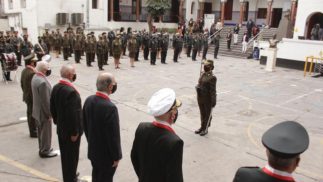 Ceremonia por el día del Cuerpo Jurídico Militar Policial