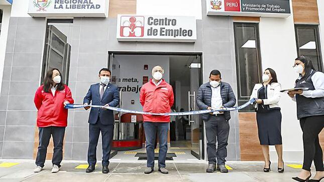 La Libertad: ministro Palacios y autoridades inauguran centro de empleo