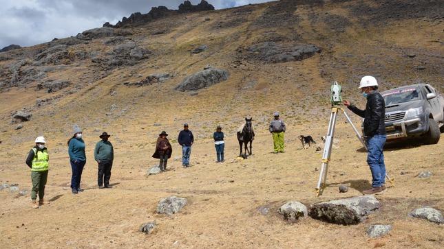 Se viene la construcción de la nueva trocha carrozable en el distrito de Huanza