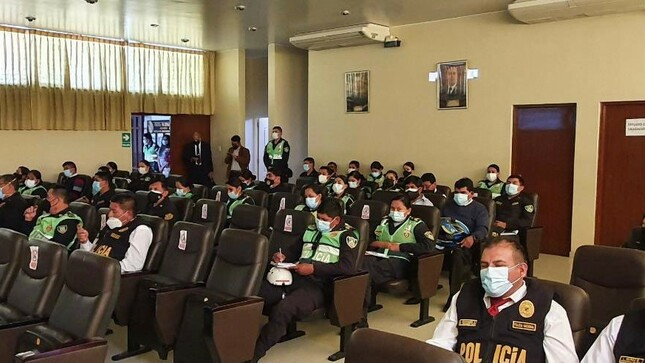SaludPol brinda charla informativa a efectivos policiales en la Región Arequipa