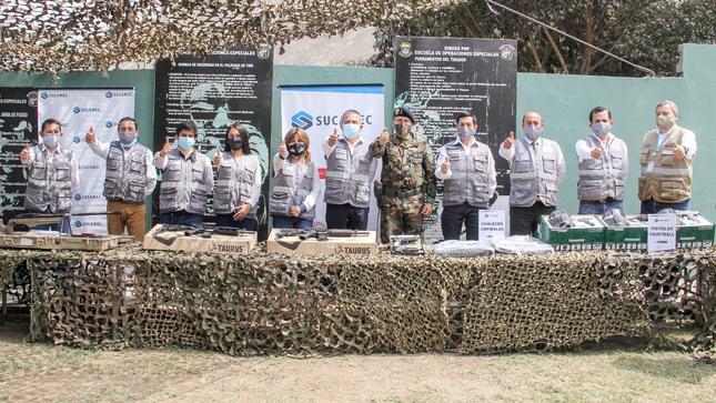Sucamec dona armas y municiones a la PNP para fortalecer la lucha contra la inseguridad ciudadana
