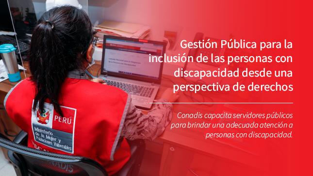 Servidores Públicos reciben capacitación de Conadis, para mejorar atención a Personas con Discapacidad