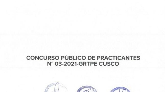 Inscripciones de Concurso Público de Practicantes