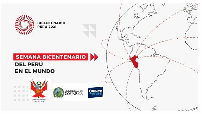 Semana Bicentenario del Perú en Canal Quince de la Universidad de Costa Rica