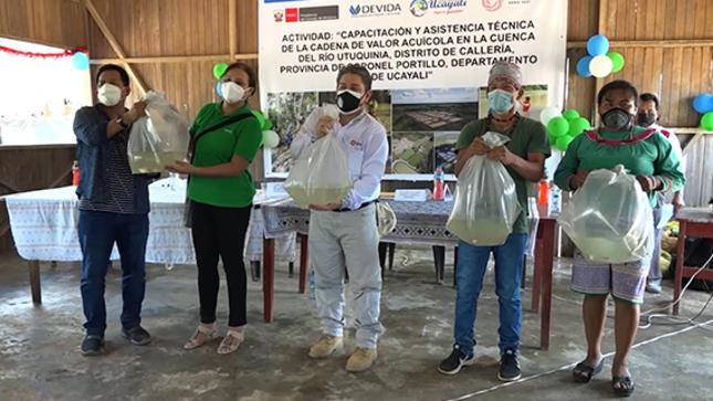 Gobierno regional lanza proyecto piscícola en cuenca del Utiquinia para 168 familias