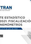 Vista preliminar de documento Reporte Estadístico N°010 - 2021: Fiscalización con Cinemómetros