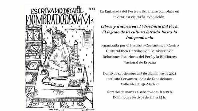 """Exposición """"Libros y autores en el Virreinato del Perú. El legado de la cultura letrada hasta la Independencia"""""""