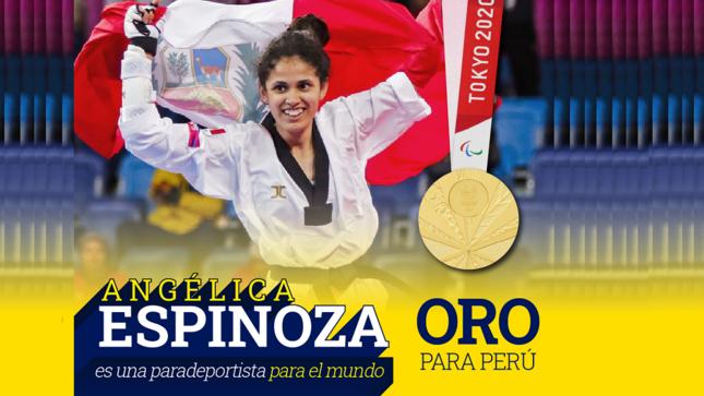 Angélica Espinoza gana la medalla de oro en los Juegos Paralímpicos de Tokio 2020 en Para taekwondo