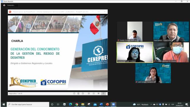 Cofopri y Cenepred capacitan a gobiernos regionales y locales sobre gestión de riesgo de desastres