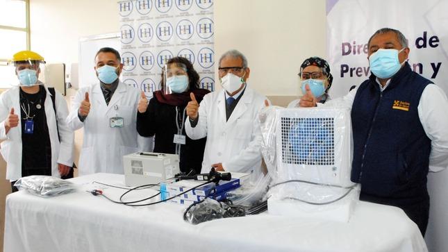 HCH recibe bronco fibroscopio para mejorar atención de pacientes con TB resistente