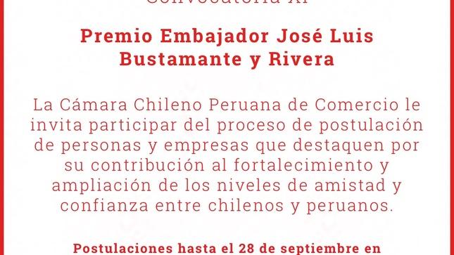 XI Edición del Premio Embajador José Luis Bustamante y Rivera