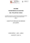 Vista preliminar de documento Informe de Transferencia de Gestión del Titular del Pliego
