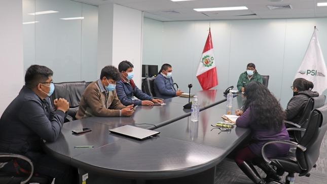 Director ejecutivo del PSI sostuvo reunión de trabajo con alcalde del distrito de Kishuara