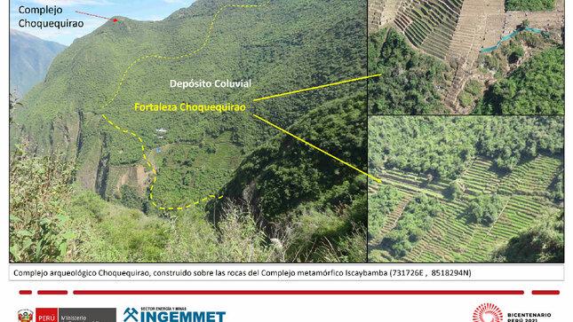 Ingemmet realizó cartografiado geológico de los cuadrángulos de Machupicchu, Pacaypata y San Miguel