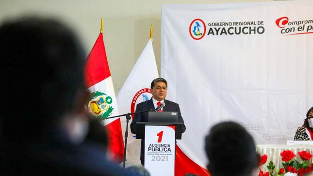 Gobernador regional rindió cuentas en la 1ra Audiencia Pública Virtual Descentralizada 2021