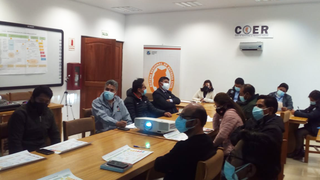 Cenepred participó en reunión técnica en el Centro de Operaciones de Emergencia del Gobierno Regional de Puno