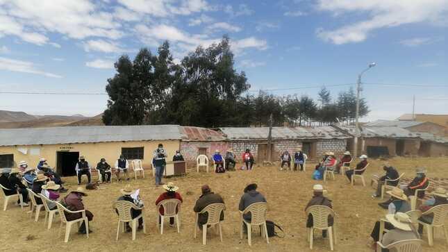 Huancavelica: Juramenta consejo directivo de Comisión Tambo Nuevo