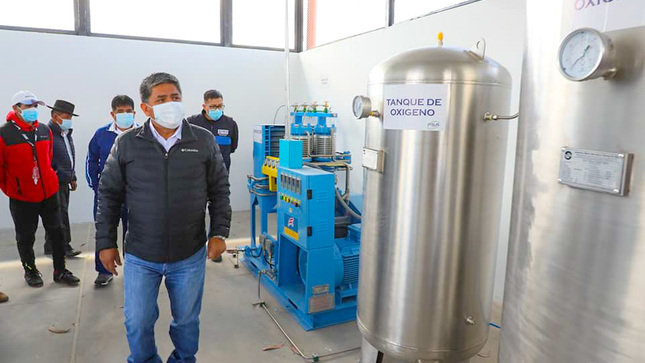 Ayacucho: Supervisan nueva planta de oxígeno para Lucanas –Puquio