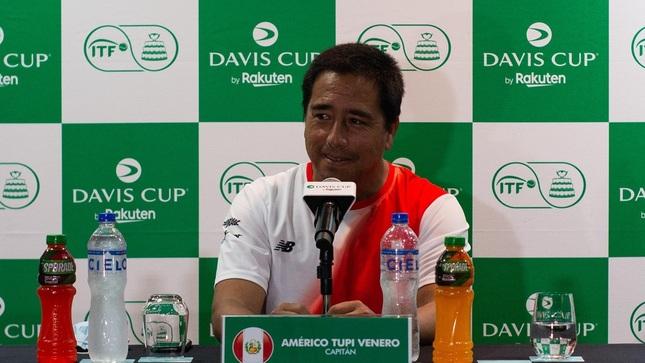 """Copa Davis: """"Tupi"""" Venero señaló que nuestros tenistas deben tener un rendimiento arriba de 8 a 9 puntos para ganar"""