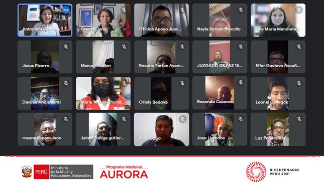 Juezas y jueces de paz de Arequipa fueron capacitados por la estrategia rural del programa nacional Aurora