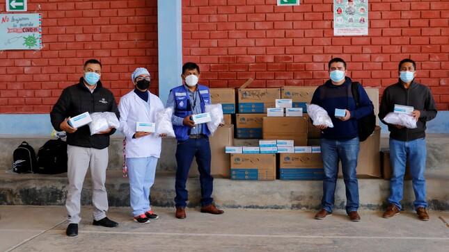 Diresa entregó más de 7,889 kit de mascarillas a la provincia de Jazán y sus distritos.
