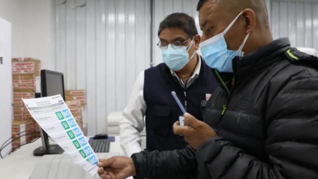 ONPE realiza prueba de color de las cédulas de sufragio