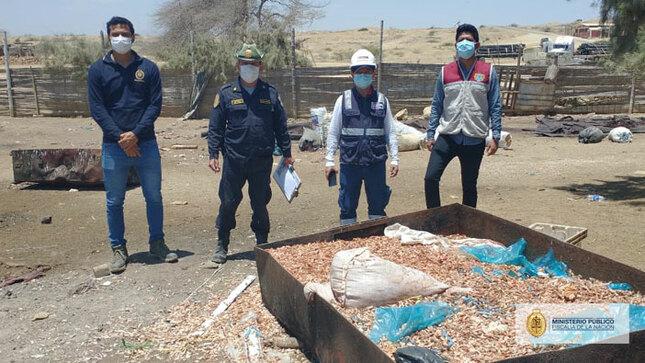 FEMA de Sullana intervino dos locales que procesaban recursos hidrobiológicos a la intemperie