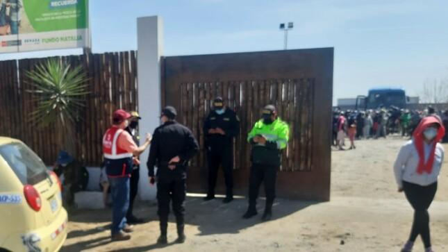 SUNAFIL soluciona problemas de falta de pagos a trabajadores agrarios del fundo Natalia de Ica
