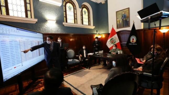 Elvia Barrios coordina acciones con integrantes de Cuarta Sala Constitucional Transitoria sobre funcionalidades del SIJ-Supremo