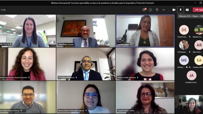 APN y WISTA Perú realizaron webinar 'Lecciones aprendidas en época de pandemia y desafíos para la Seguridad y Protección Portuaria'