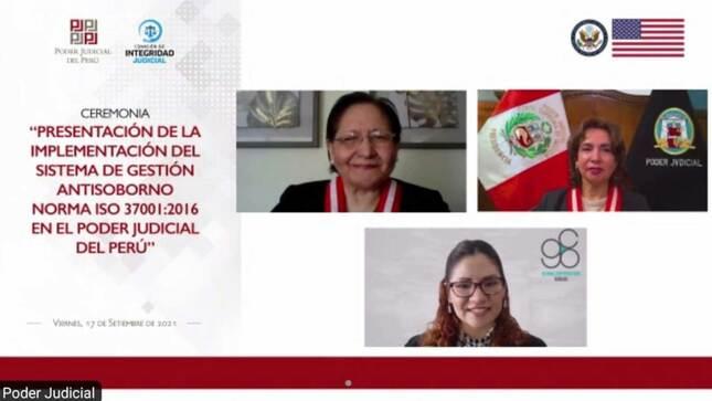 Poder Judicial presenta certificación ISO 37001 sobre Sistema de Gestión Antisoborno