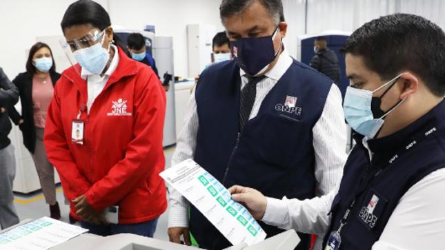 ONPE imprimió cédulas de sufragio para procesos electorales del 10 de octubre