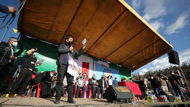 Premier Guido Bellido acudió a Andahuaylas para escuchar demandas sobre proyectos de desarrollo en la provincia