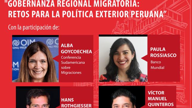 "Bicentenario MRE - Cuarto Foro de la serie ""Diplomacia peruana: miradas de futuro"", sobre ""Gobernanza Regional Migratoria"" - 27 Septiembre"