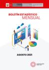 Vista preliminar de documento Boletín Estadístico - Agosto 2021