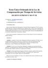 Vista preliminar de documento Texto Único Ordenado de la Ley de Compensación por Tiempo de Servicios