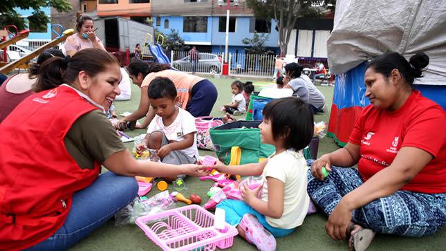 Minedu brinda apoyo socioemocional  a niños afectados por emergencia en SJL