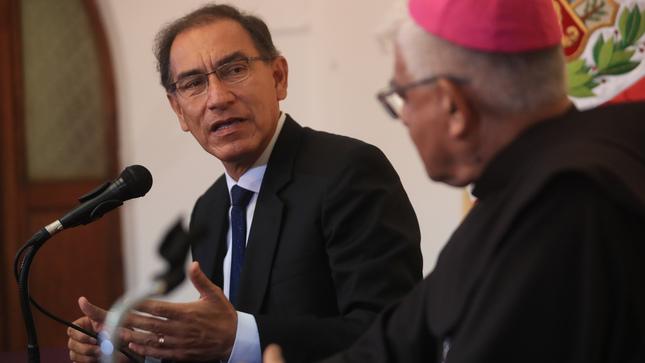 Presidente Vizcarra convoca a la iglesia católica a construir una agenda conjunta en favor de los más pobres