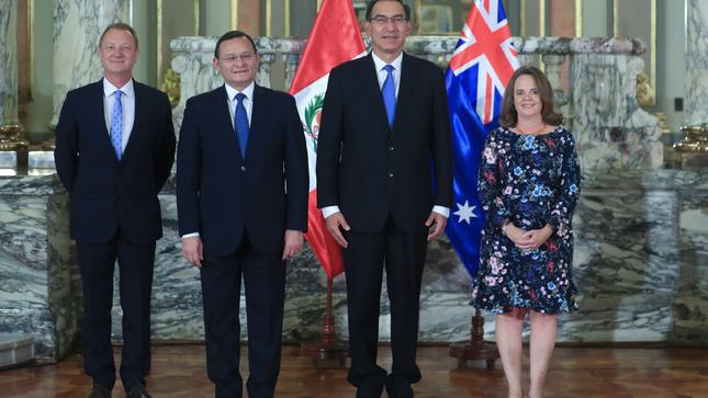 Jefe de Estado recibe cartas credenciales de embajadores de Australia, Austria, Turquía y Arabia Saudita