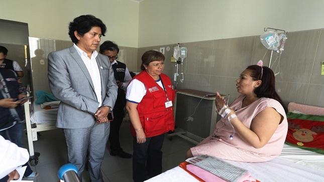 Ministra Zulema Tomás realiza visita inopinada a Hospital Sergio Bernales de Collique