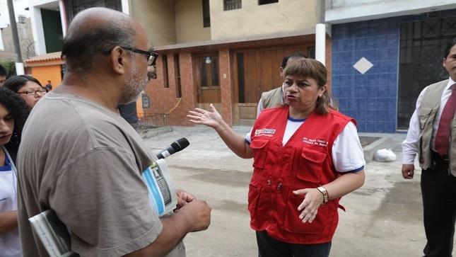 "Ministra Zulema Tomás: ""Seguimos vigilantes para garantizar salud de pobladores afectados por aniego"""