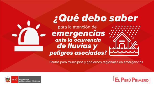 PCM distribuye manual de pautas para gobiernos regionales y municipios en emergencia