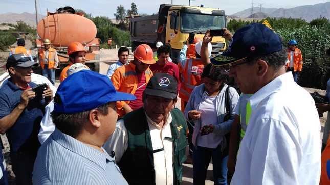 Presidente Vizcarra supervisa avances en la instalación de nuevo puente modular en Moquegua y atención de afectados por huaicos en Tacna